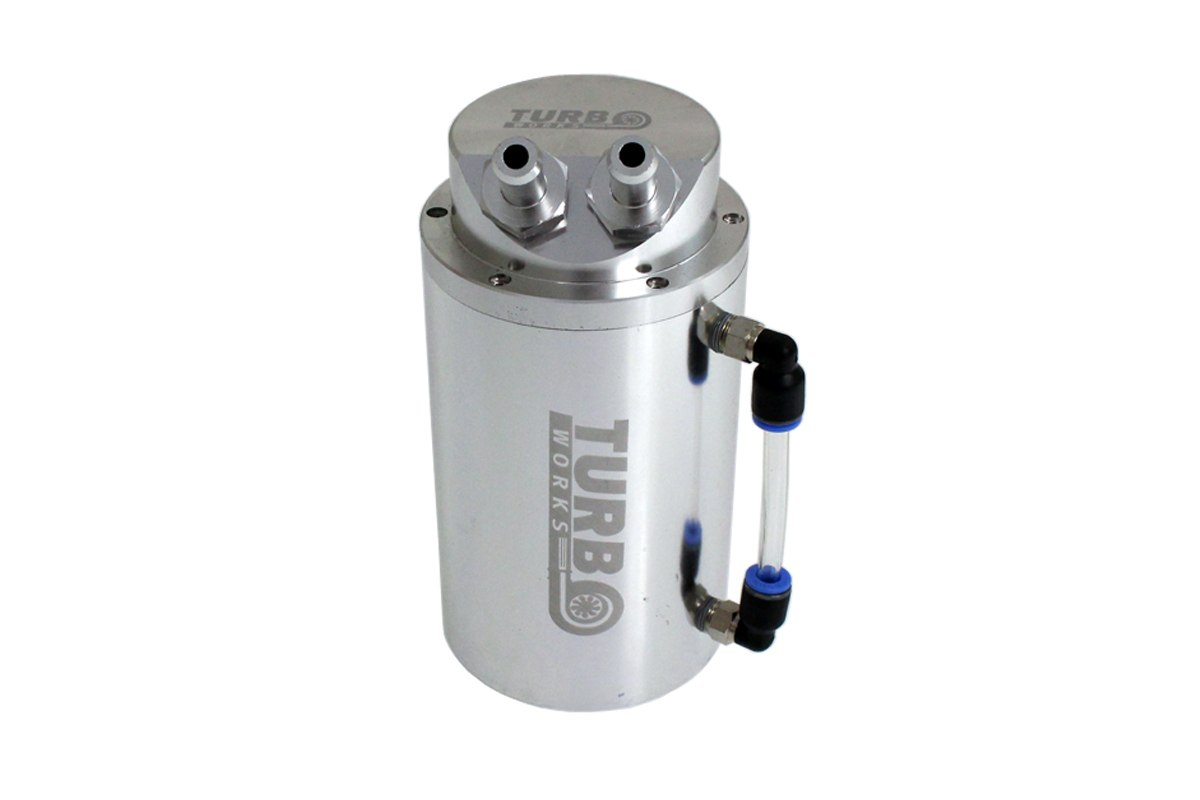 Oil catch tank 0.7L 10mm TurboWorks Silver - GRUBYGARAGE - Sklep Tuningowy